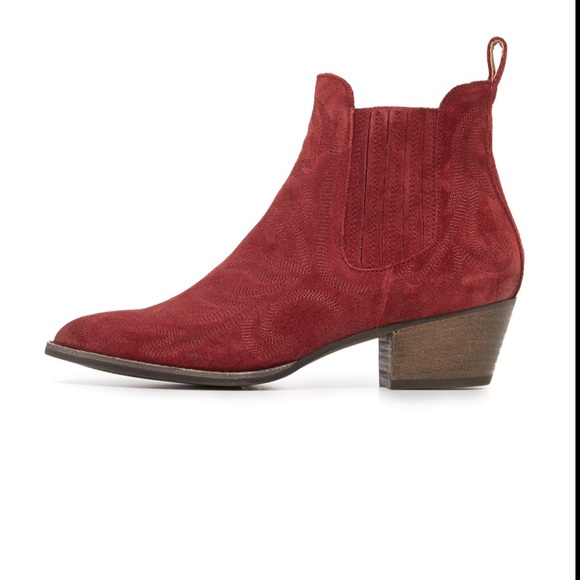 red Leather 10 M US Dolce Vita Womens SETHE Ankle Boot